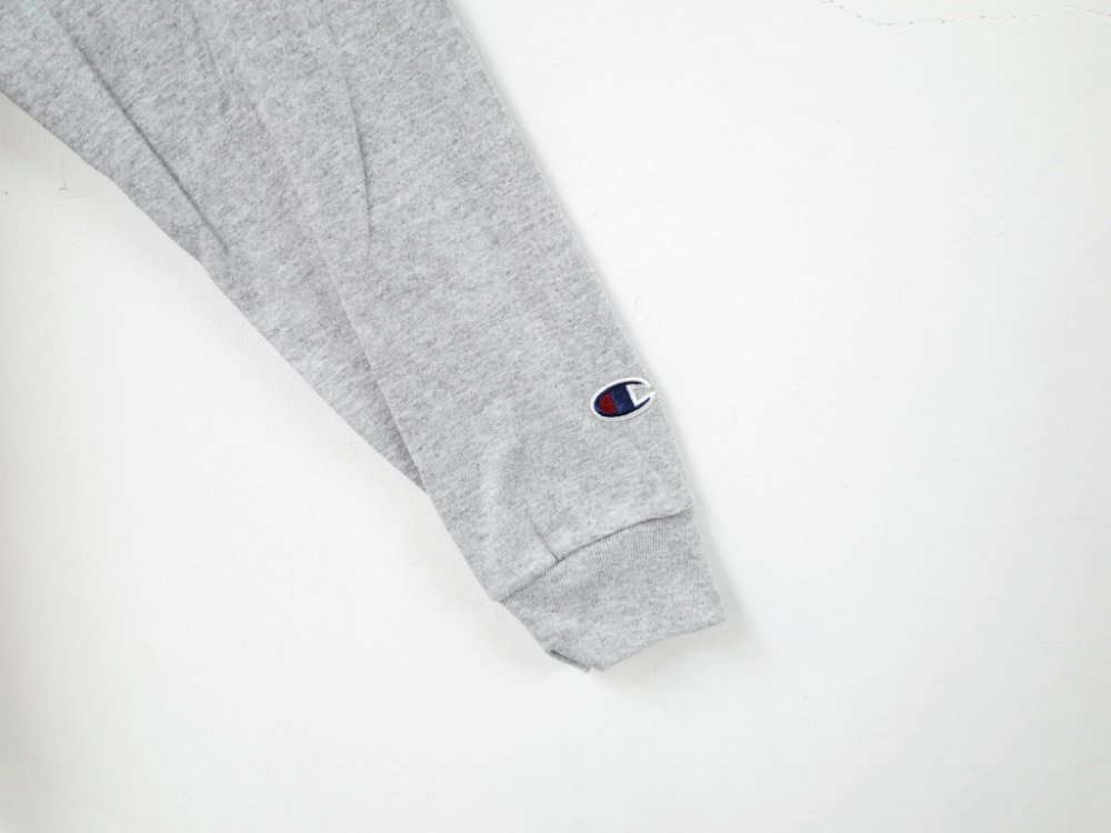 海外企画 Champion 5.2 oz. Long-Sleeve  Tee Tシャツ grey