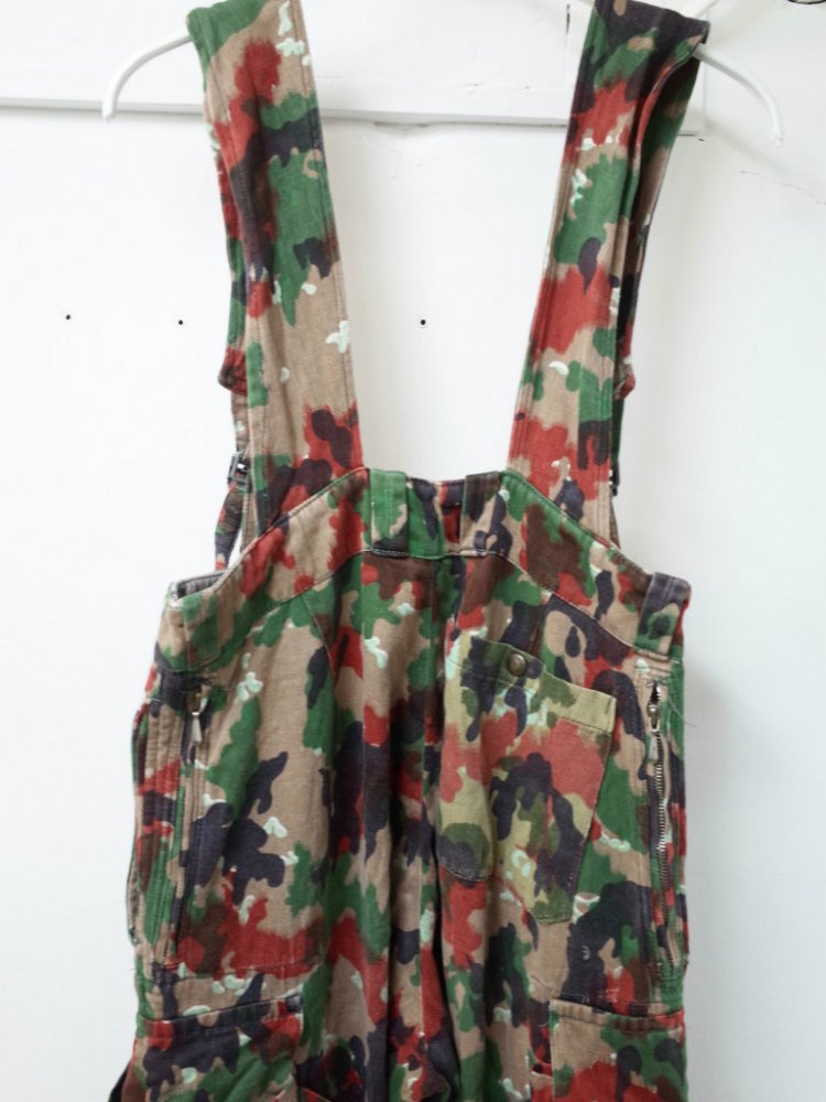 Vintage  SWITZERLAND ARMY ALPINE CAMO オーバーオール #3 USED