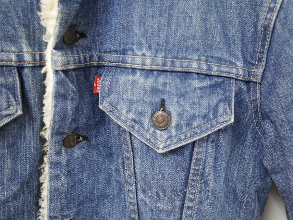 VINTAGE 70's LEVI'S 70605 デニムボアジャケット MADE IN USA USED