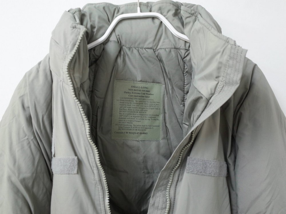 米軍実物 ECWCS Gen III Level 7  PRIMALOFT PARKA S-LONG DEAD STOCK
