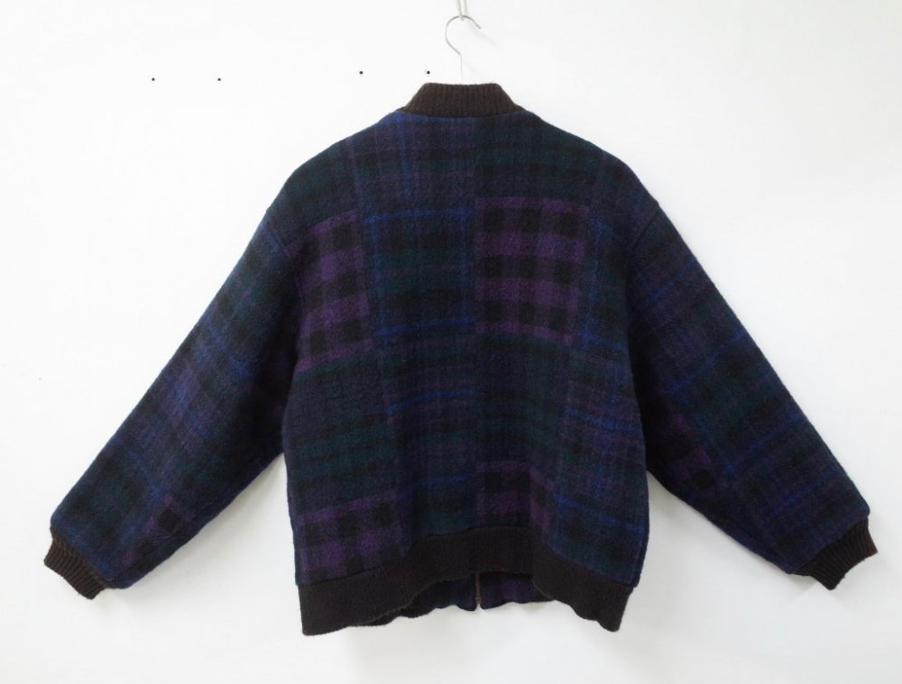 VINTAGE  WOOLRICH ウールリッチ  チェック柄 ウールブルゾン  USA製 USED