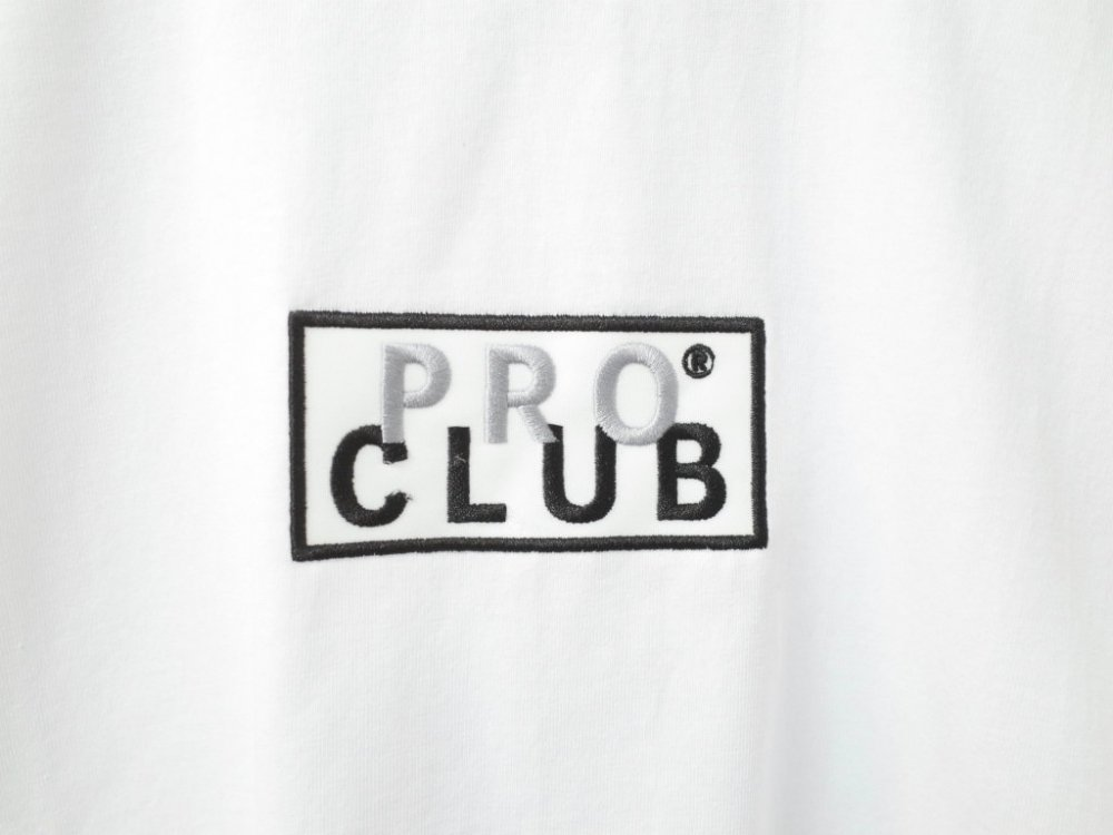 <img class='new_mark_img1' src='https://img.shop-pro.jp/img/new/icons20.gif' style='border:none;display:inline;margin:0px;padding:0px;width:auto;' />PRO CLUB  6.4オンス PRO CLUB BOX LOGO ヘビーウェイトコットン Tシャツ white