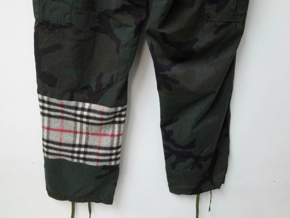SOTA JAPAN × SEW UP REMAKE BURBERRY US ARMY BLACK OUT BDU CARGO PANTS