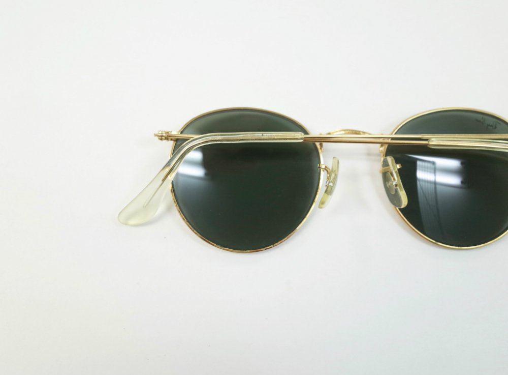 VINTAGE RAY-BAN BAUSCH&LOMB社製 ROUND METAL GOLD サングラス MADE IN USA USED