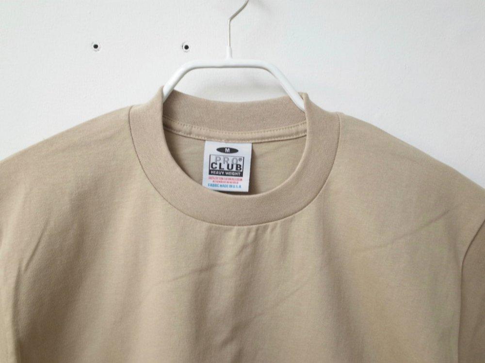 PRO CLUB  6.4オンス ヘビーウェイトコットン Tシャツ tan