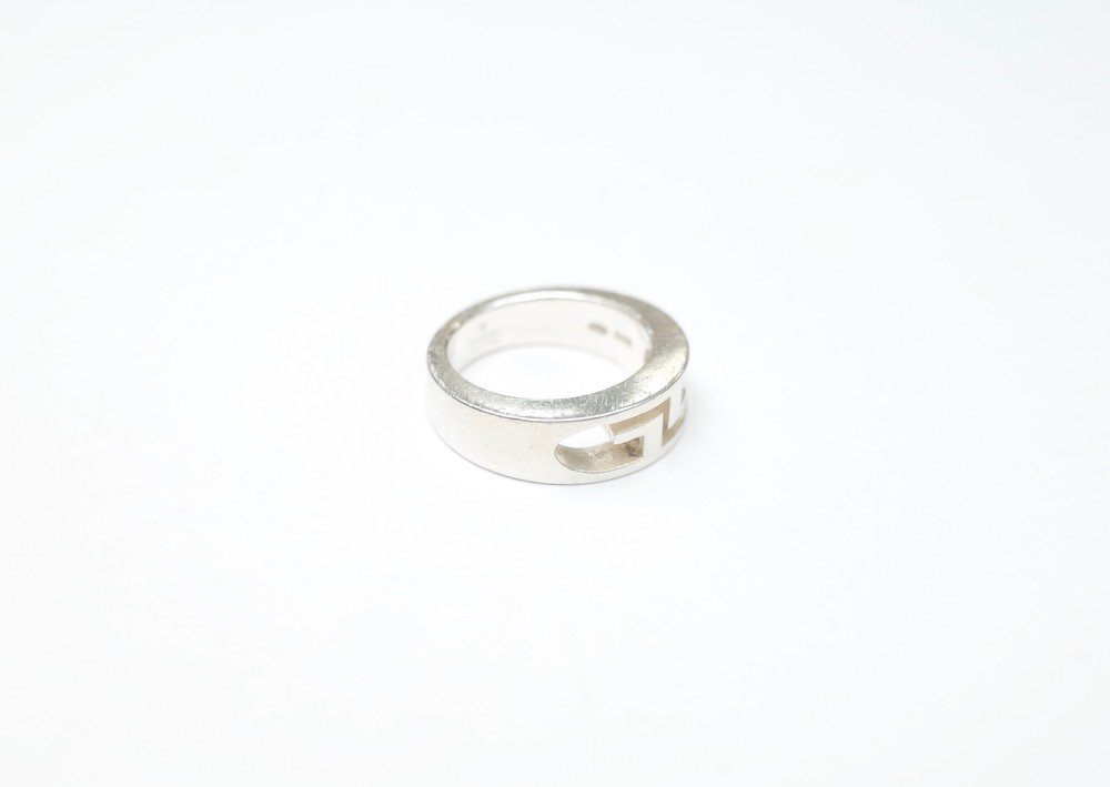 GUCCI グッチ ロゴ リング silver925 8号 MADE IN ITALY  USED