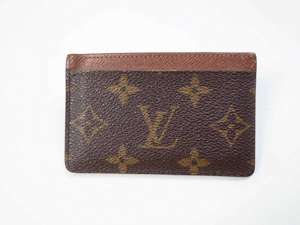 <img class='new_mark_img1' src='//img.shop-pro.jp/img/new/icons15.gif' style='border:none;display:inline;margin:0px;padding:0px;width:auto;' />LOUIS VUITTON ルイヴィトン モノグラム カードケース    MADE IN FRANCE USED