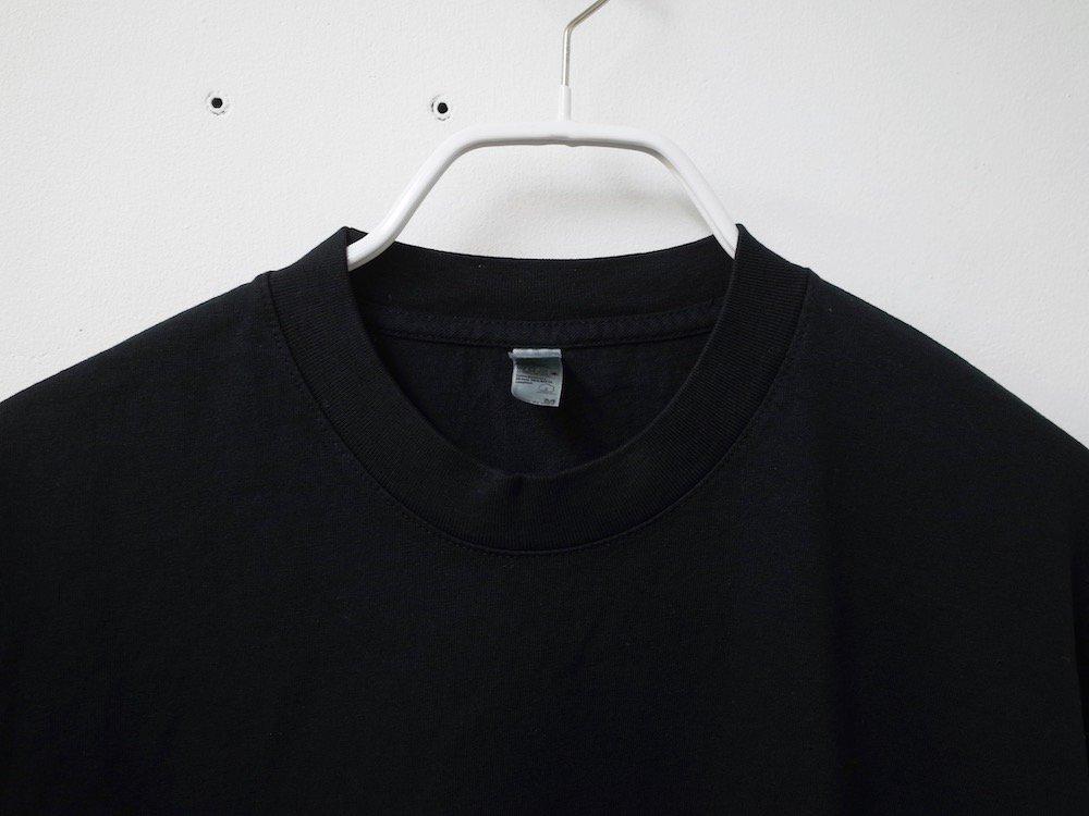 LOS ANGELES APPAREL  ガーメントダイ 6.5オンス  L/S Tシャツ USA製 black