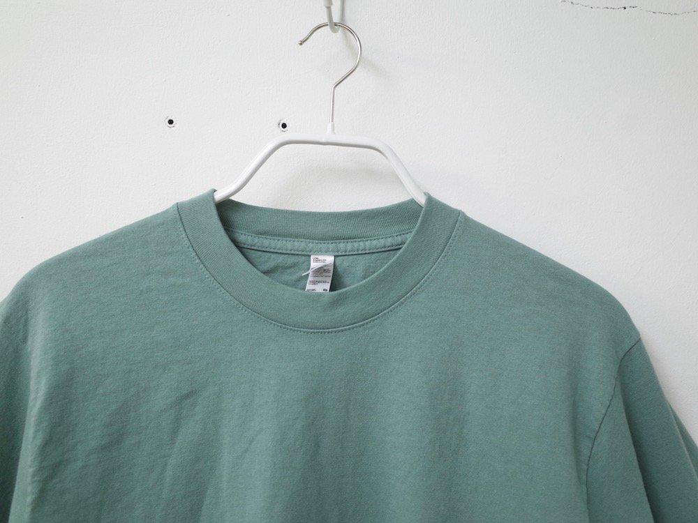 LOS ANGELES APPAREL  ガーメントダイ 6.5オンス  L/S Tシャツ USA製 a.green