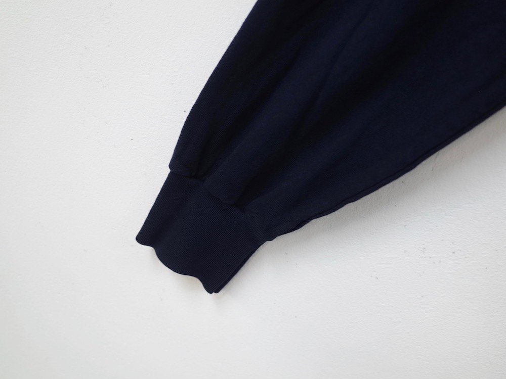 LOS ANGELES APPAREL  ガーメントダイ 6.5オンス  L/S Tシャツ USA製 navy