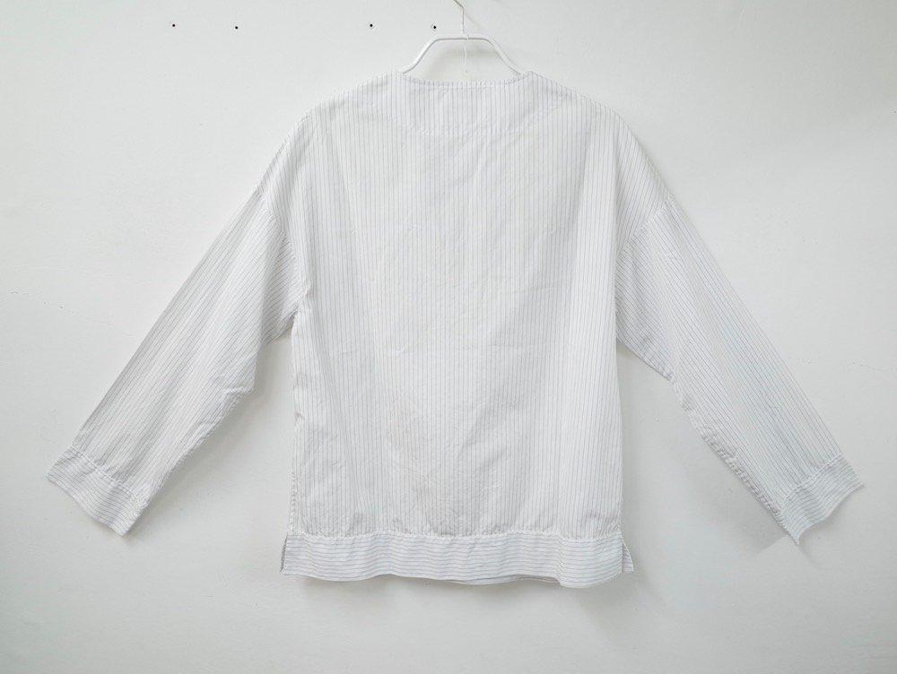 UMIT BENAN ウミットベナン ストライプ柄 プルオーバーシャツ MADE IN ITALY USED