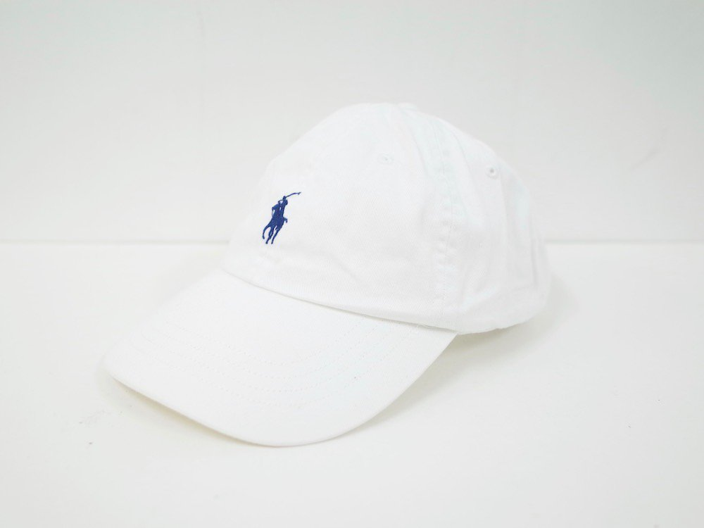 ポロラルフローレン ワンポイント ロゴキャップ white