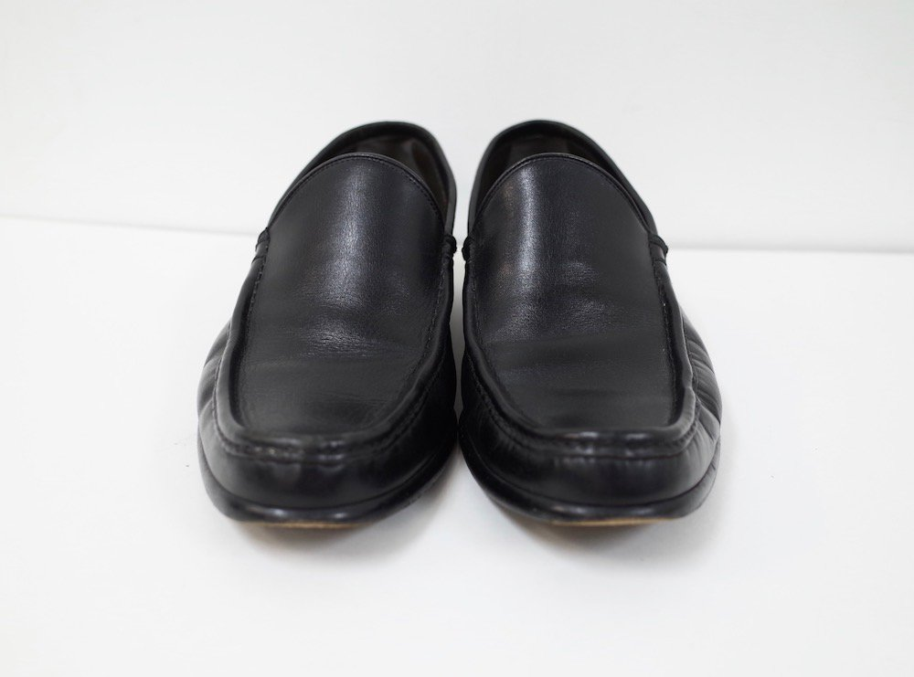 GUCCI グッチ   レザースリッポン black MADE IN ITALY  USED