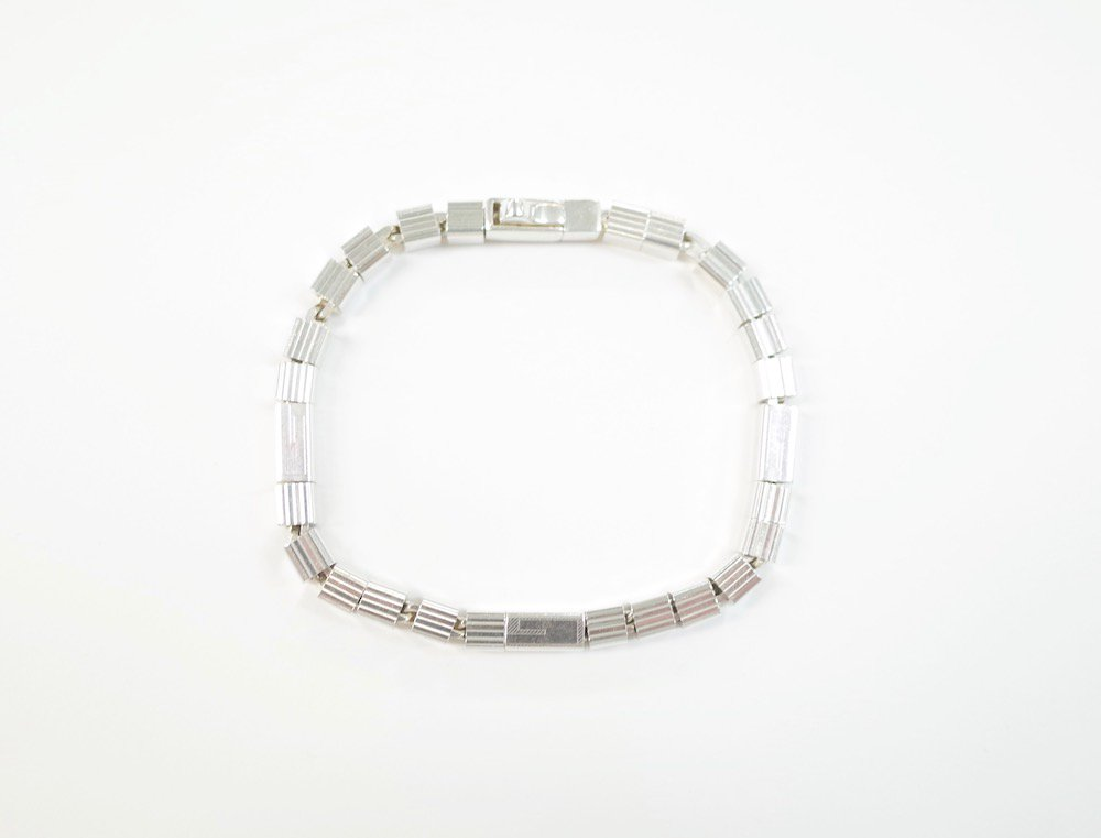 GUCCI グッチ   ブロックチェーン ブレスレット silver925 MADE IN ITALY USED