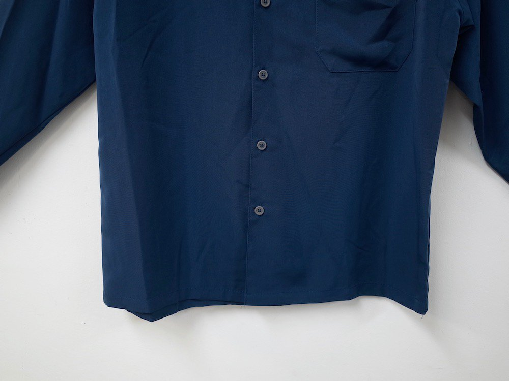 CALTOP OPEN COLLAR L/S シャツ  s.blue MADE IN USA