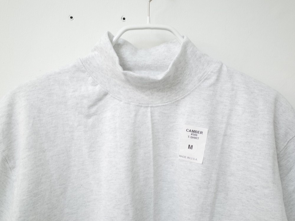 CAMBER   8oz. Max Weight MOCK NECK L/S Tシャツ USA製 h.grey