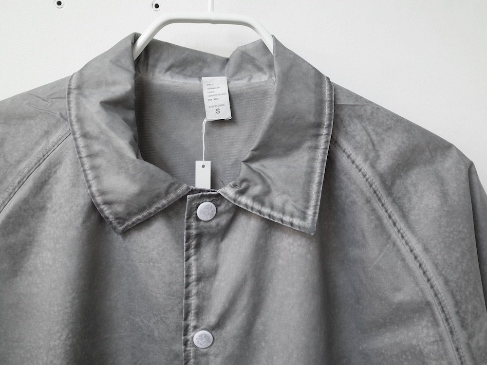 BEIMAR OIL WASH Coach Jacket コーチジャケット grey