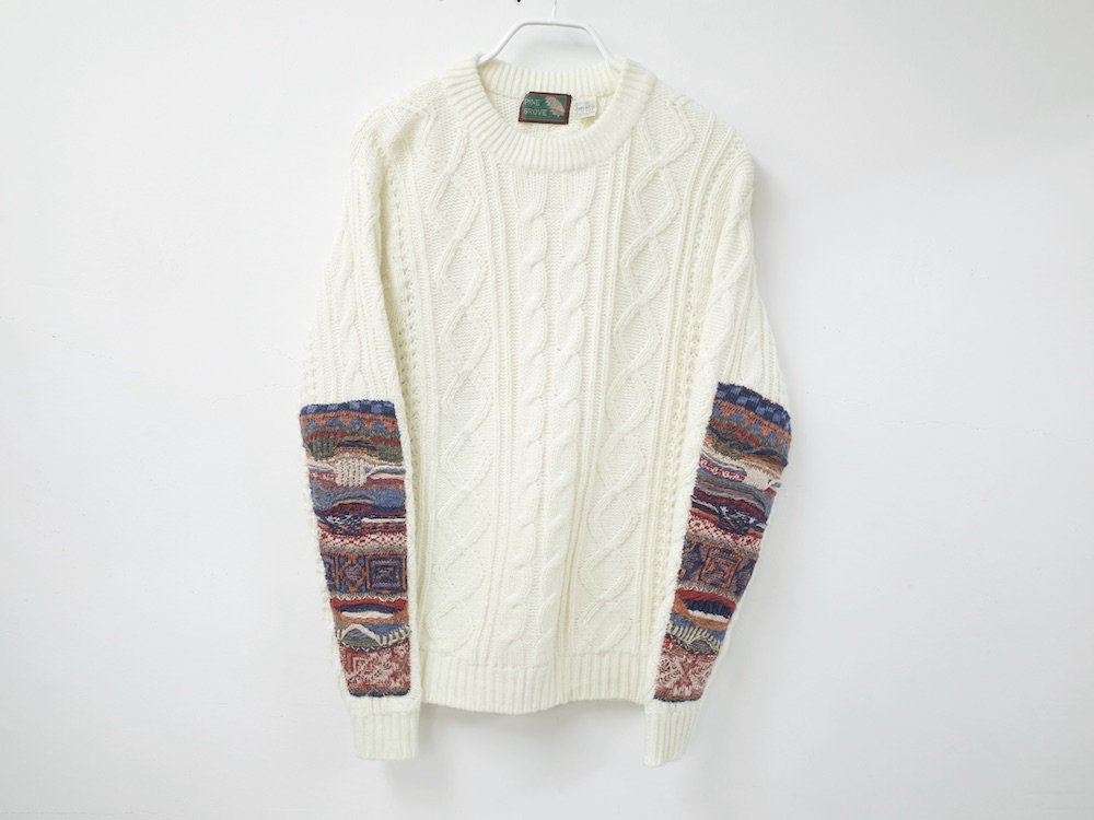 <img class='new_mark_img1' src='//img.shop-pro.jp/img/new/icons15.gif' style='border:none;display:inline;margin:0px;padding:0px;width:auto;' />SOTA JAPAN × SEW UP REMAKE COOGI  SWEATER