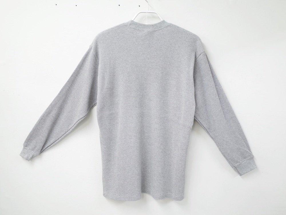 PRO CLUB  8.1オンス ヘビーウェイトコットン L/S サーマルTシャツ grey