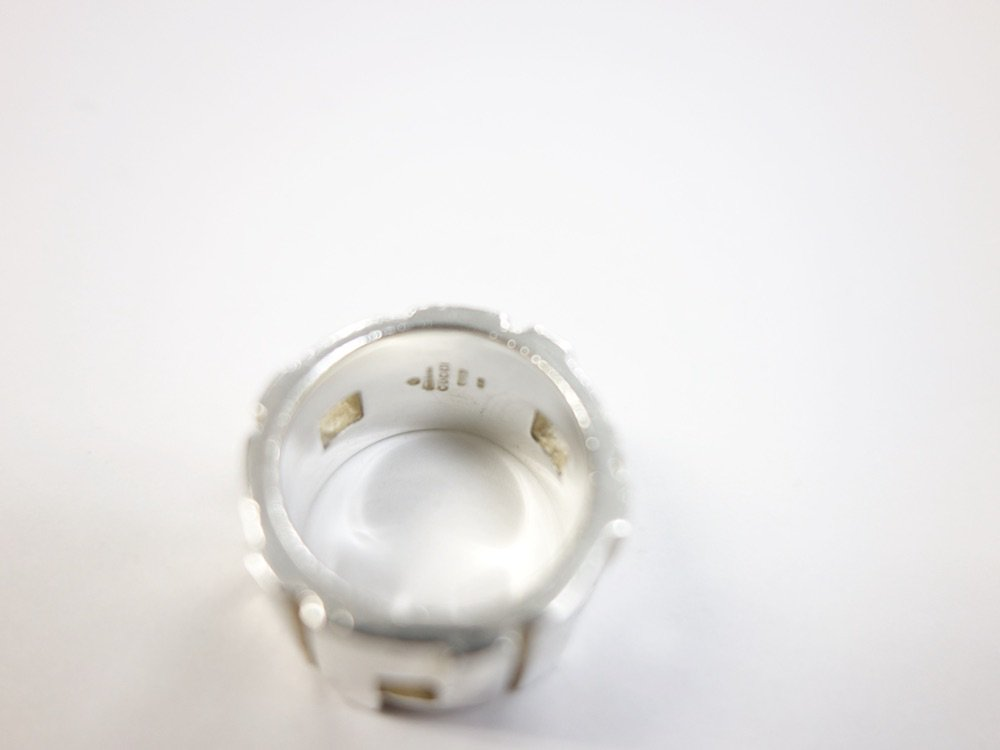 GUCCI グッチ リング silver925 13号 MADE IN ITALY  USED