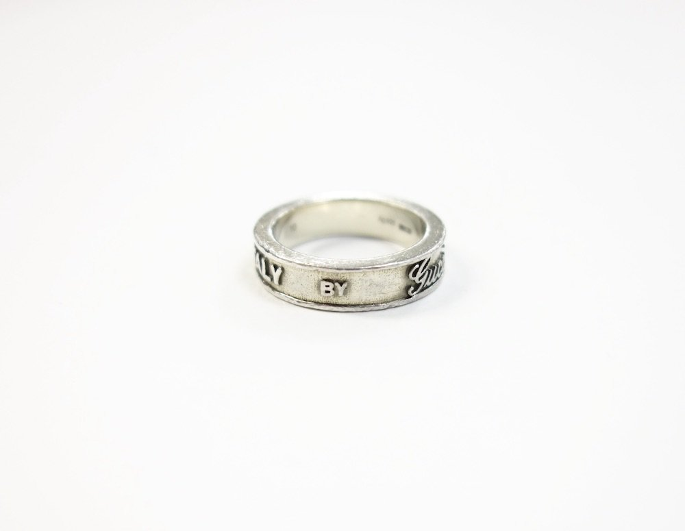 GUCCI グッチ ロゴ リング silver925 10号 MADE IN ITALY  USED