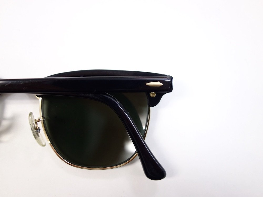 VINTAGE RAY-BAN BAUSCH&LOMB社製 CLUBMASTER サングラス MADE IN USA USED