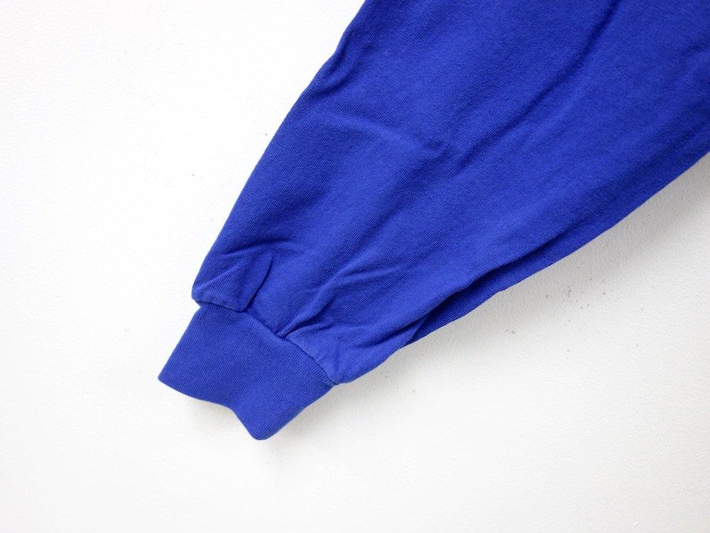 LOS ANGELES APPAREL  ガーメントダイ 6.5オンス  L/S Tシャツ USA製 c.blue