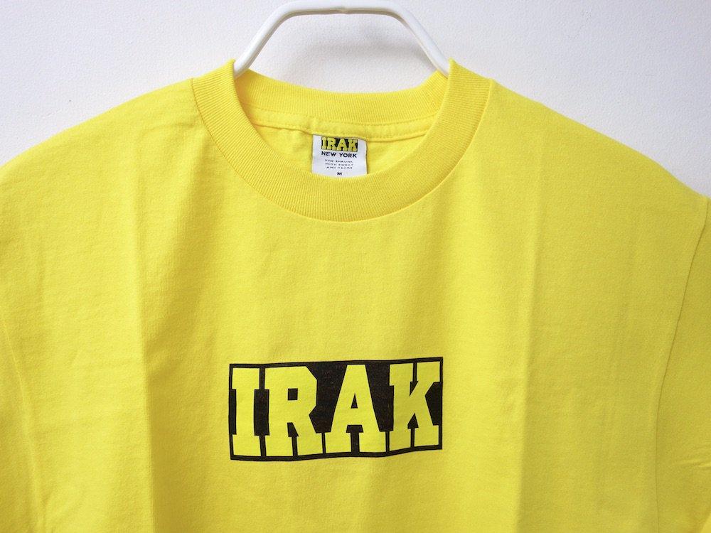 IRAK LOGO Tシャツ yellow