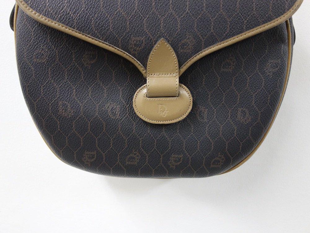 Christian Dior オールド ディオール 総柄 レザーショルダーバッグ  フランス製 USED