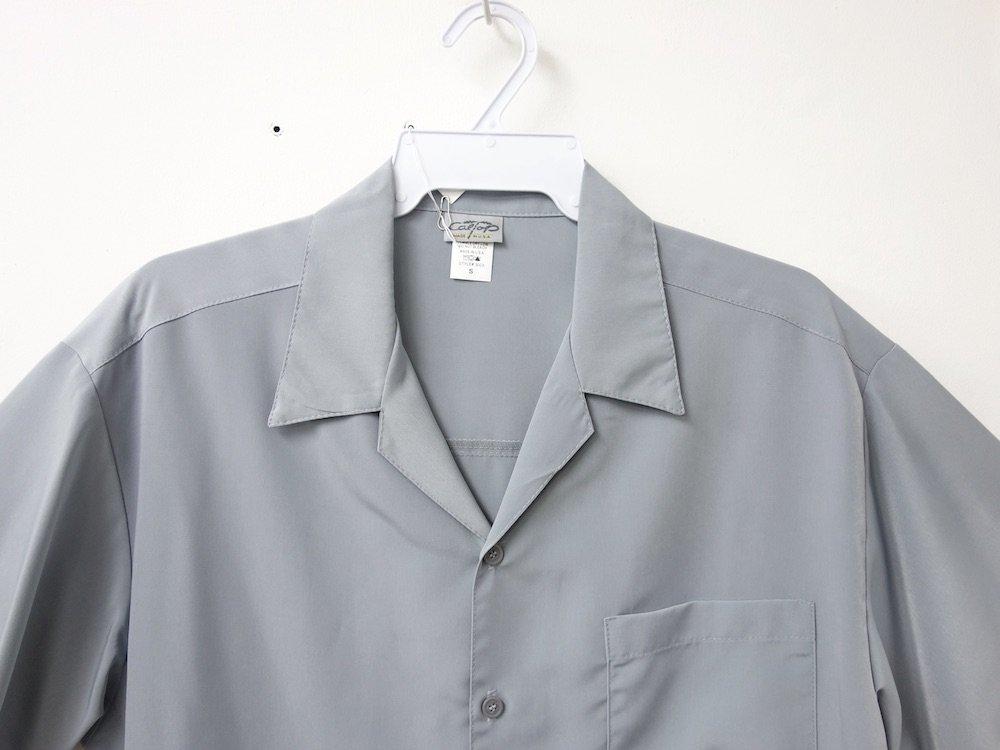 CALTOP OPEN COLLAR S/S シャツ grey MADE IN USA