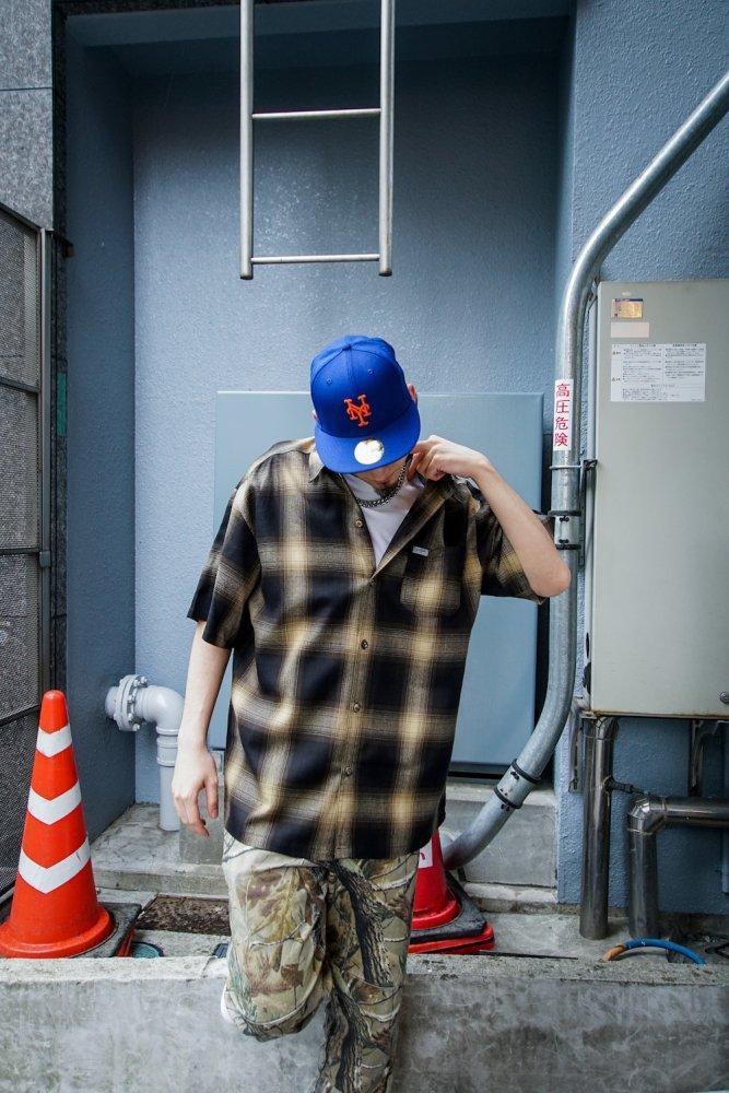 CALTOP OMBRE CHECK S/S シャツ B/I MADE IN USA