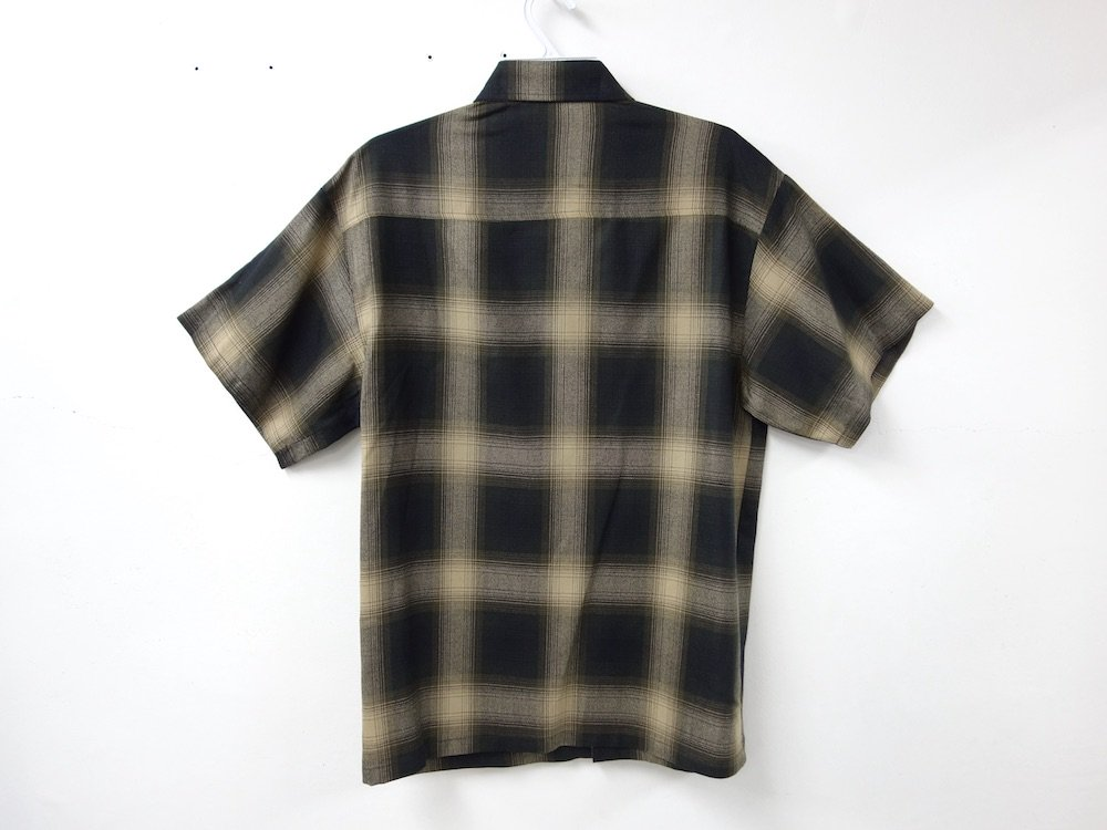 CALTOP OMBRE CHECK S/S シャツ B/K  MADE IN USA