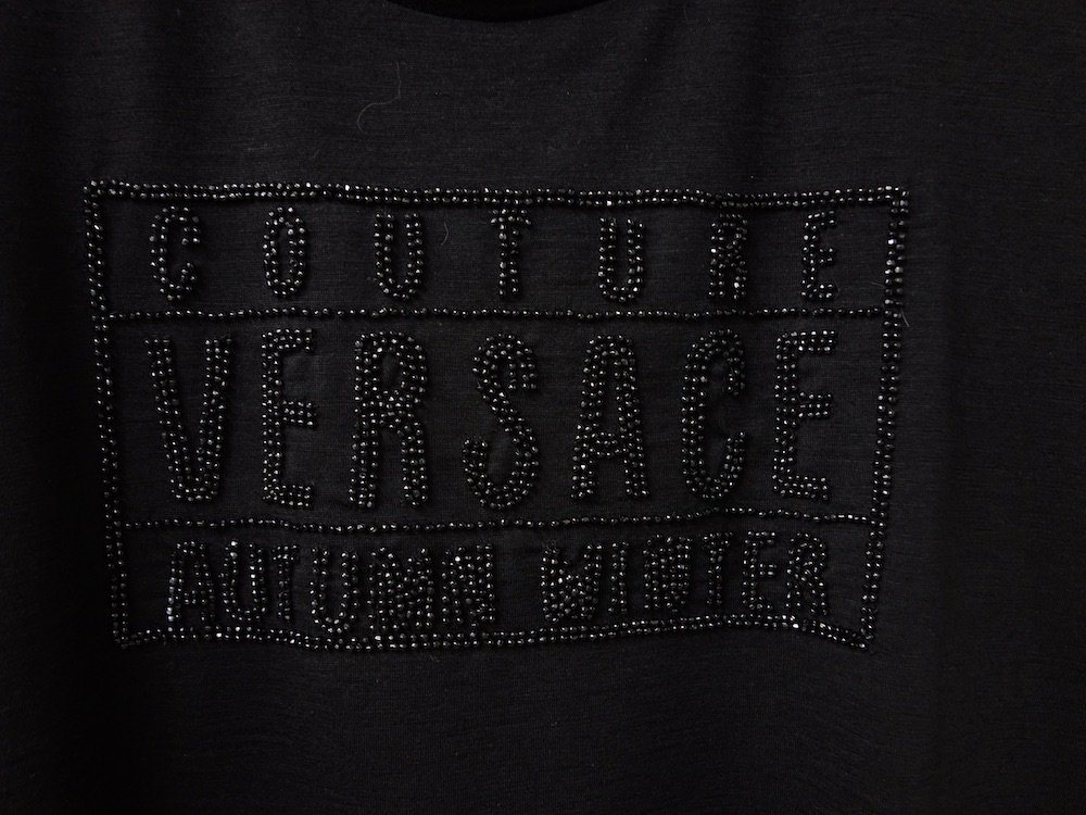 GIANNI VERSACE ヴェルサーチ ロゴセーター MADE IN ITALY  USED