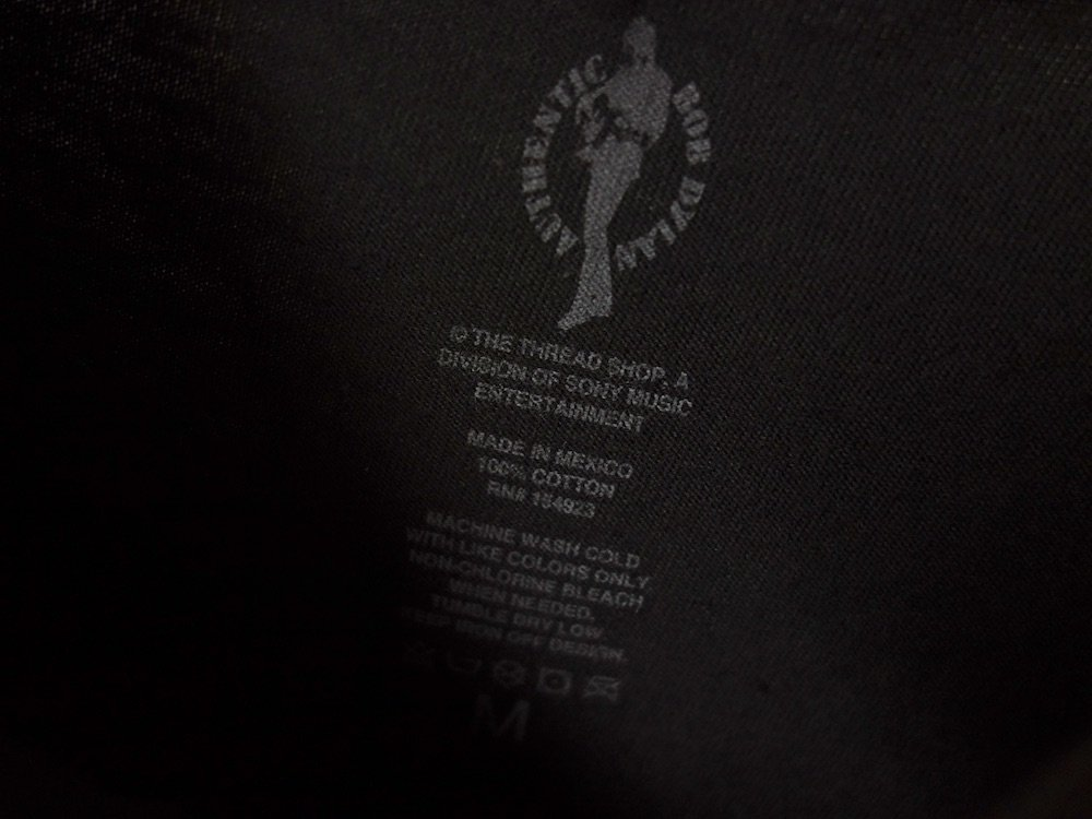 Bob Dylan オフィシャル Tシャツ