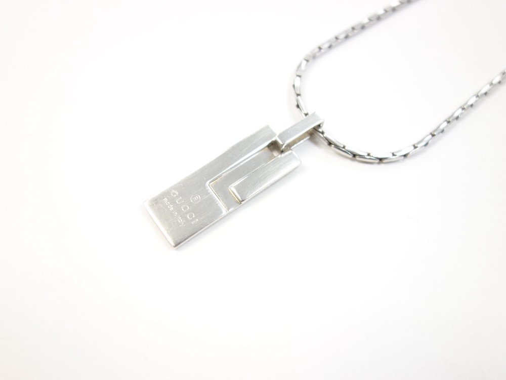 GUCCI グッチ  Gロゴ チェーン ネックレス silver925 MADE IN ITALY USED