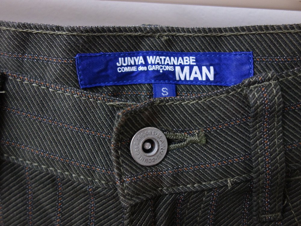 <img class='new_mark_img1' src='https://img.shop-pro.jp/img/new/icons15.gif' style='border:none;display:inline;margin:0px;padding:0px;width:auto;' />JUNYA WATANABE MAN COMME des GARCONS  ストライプパンツ AD2006 MADE IN JAPAN USED