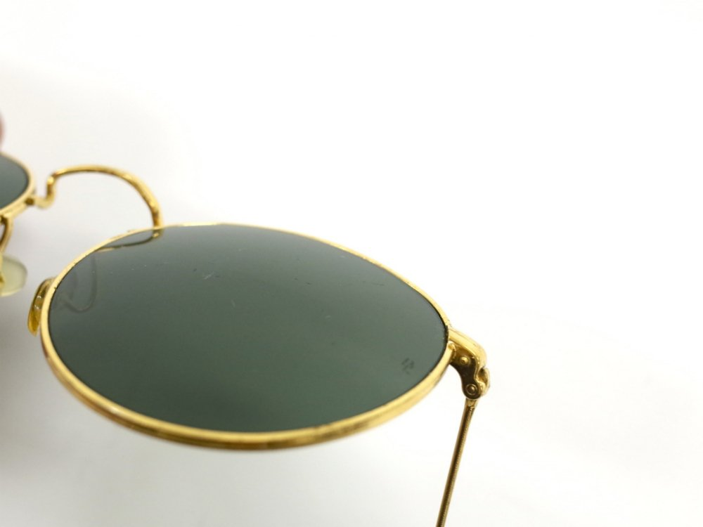 B&L社製 1990'S RAY-BAN ROUND METAL ARISTA GOLD