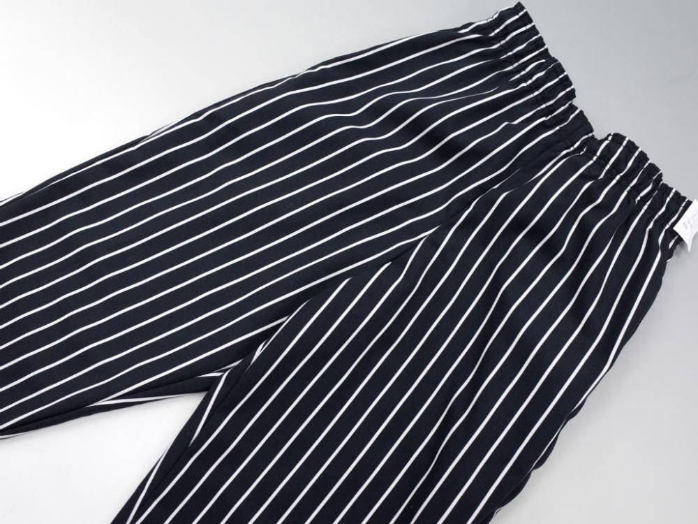 CHEF DESIGNS SPUN POLYESTER BAGGY PANT ストライプ柄ワークパンツ