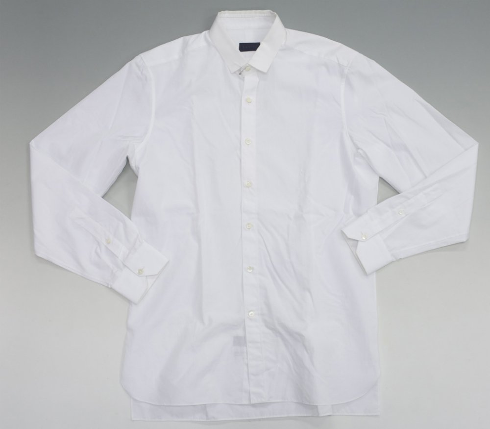 LANVIN ランバン 切替しシャツ white MADE IN ITALY USED