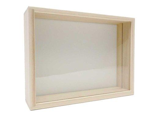 桐製標本箱:中型(ガラス蓋 ...