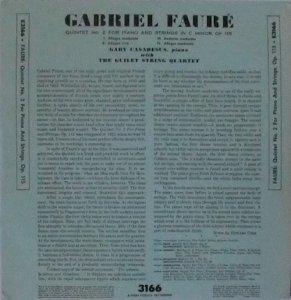 FAURE フォーレ / Quintet No. 2 For Pi...