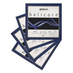 ヘリコア ソロ コントラバス弦 A,E,B,F#線セット