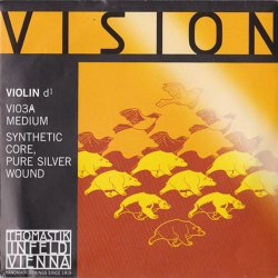 バイオリン弦 ヴィジョン D線 シルバー巻