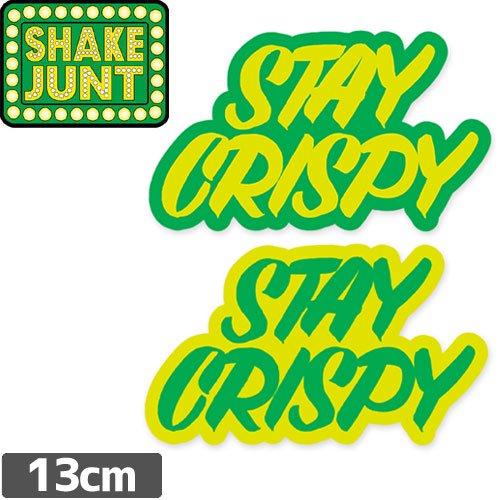 【シェイクジャントSHAKEJUNTスケボーステッカー】STAY CRISPY STICKER【7.5cm x 13cm】NO39