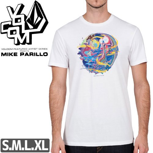 【VOLCOM ボルコム Tシャツ】MIKE PARILLO FEATURED ARTIST S/S TEE【ホワイト】NO93