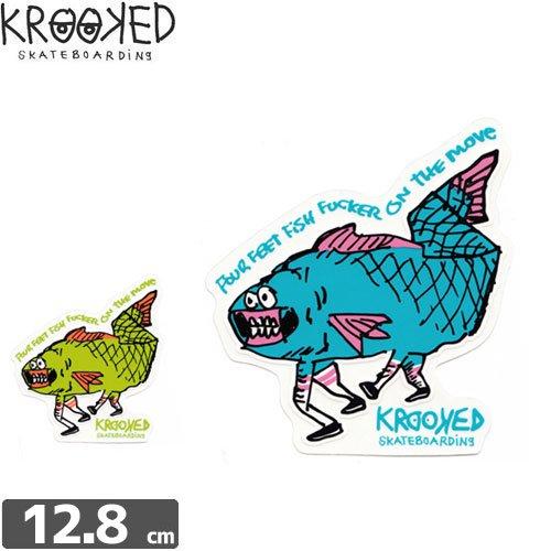 【クルックド KROOKED スケボー ステッカー】ON THE MOVE STICKER【2カラー】NO29