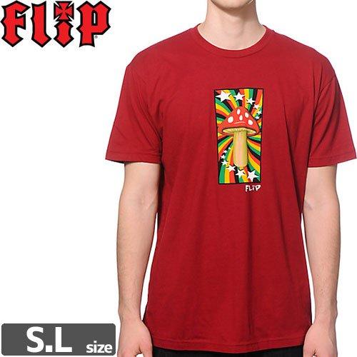 SALE! 【フリップ FLIP スケボー Tシャツ】RASTA SHROOM TEE【カーディナル】NO30