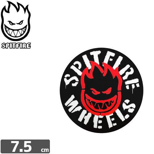 【スピットファイア SPITFIRE スケボー ステッカー】INFLAMMABLE STICKER【7.5cm x 7.5cm】NO78