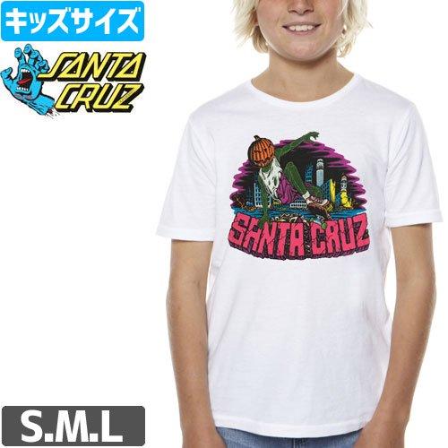 【サンタクルズ SANTA CRUZ キッズ Tシャツ】PUMPKIN REGULAR YOUTH TEE【ユース サイズ】【ホワイト】NO32