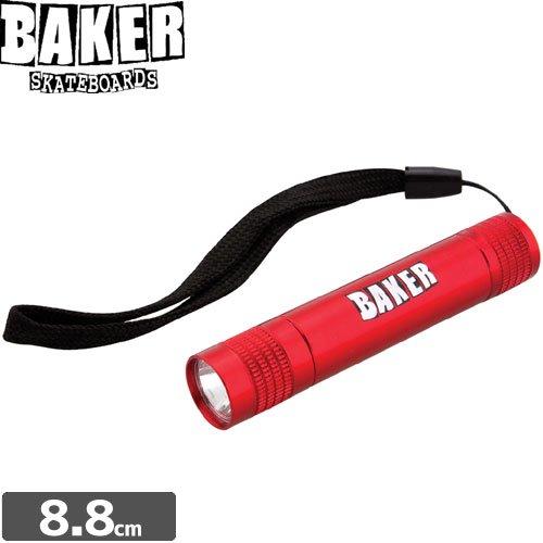 【BAKER ベーカー スケボー 小物】BRAND LOGO MINI RED FLASHLIGHT【ミニ ライト】NO1